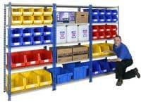 Wide Open Bays - 4 Shelves - 915 mm Wide